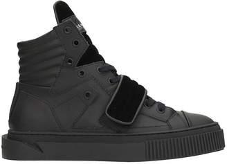 Gienchi Hypnos Black Rubber And Velvet Sneakers