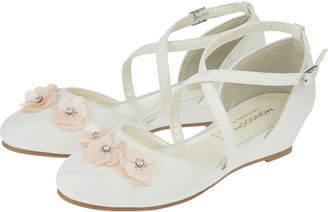 Monsoon Scarlett Cross Strap Wedge Shoes