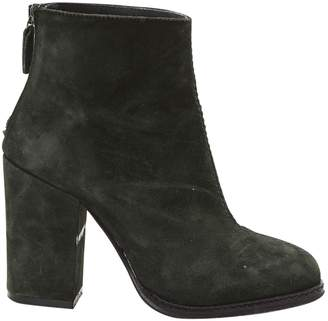 Pinko Green Suede Ankle boots