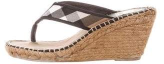 Burberry Nova Check Espadrille Sandals
