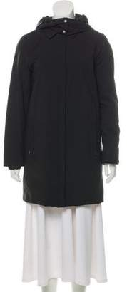 Prada Sport Hooded Short Coat