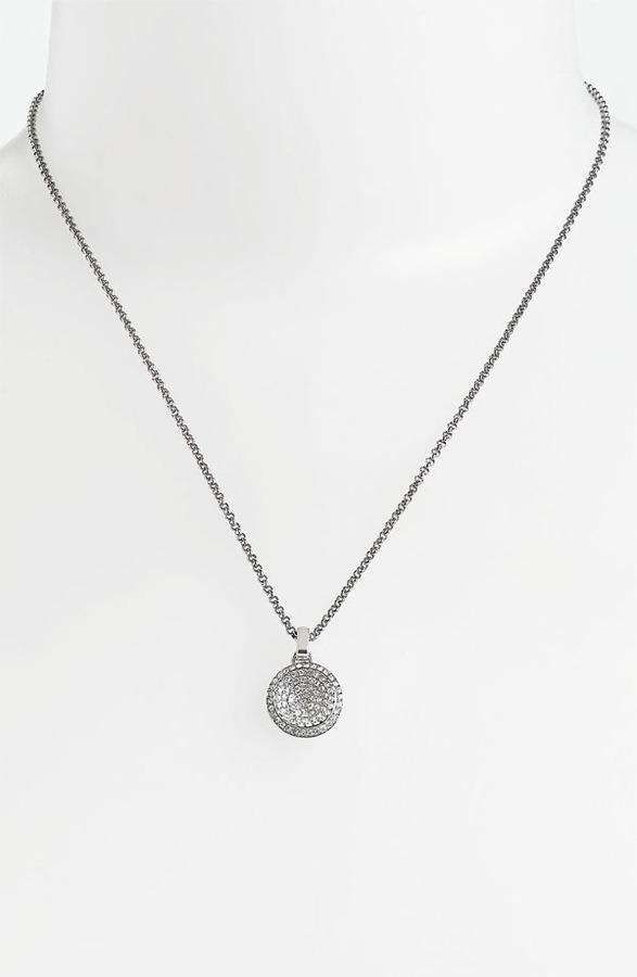 MICHAEL Michael Kors Michael Kors Pendant Necklace Silver/ Clear Crystal