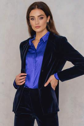 Na Kd Trend Velvet Fitted Blazer