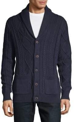 Black & Brown Black Brown Long-Sleeve Cotton Cardigan