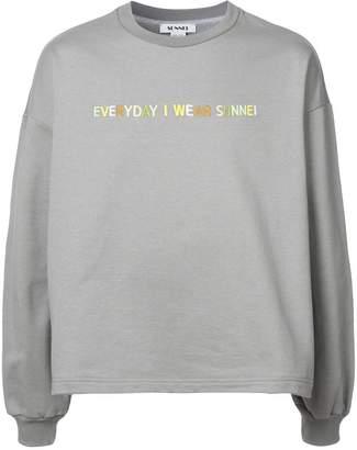 Sunnei Everyday I Wear embroidered sweatshirt