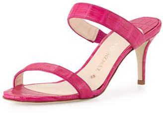 Nancy Gonzalez Maria Crocodile 70mm Slide Sandals