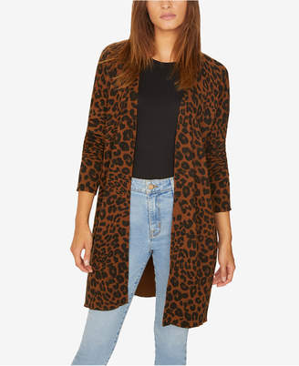 Sanctuary Leopard-Print Long Cardigan Sweater