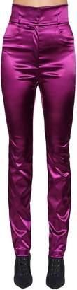 Dolce & Gabbana High Waisted Stretch Satin Pants
