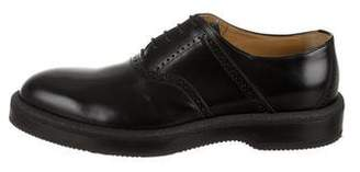 Hermes Round-Toe Leather Oxfords