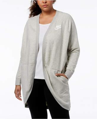 Nike Plus Size Sportswear Rally Fleece Open Cardigan