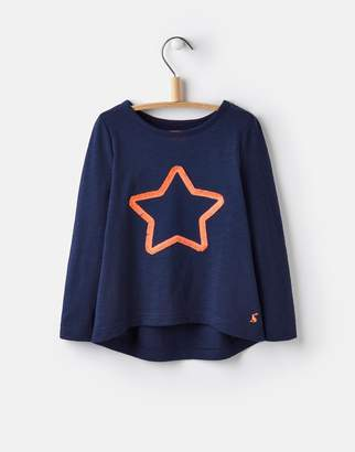 Joules Clothing 124632 Girls Long Sleeved 3D Embellished Top