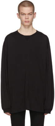TAKAHIROMIYASHITA TheSoloist. Black Long Sleeve Oversized T-Shirt