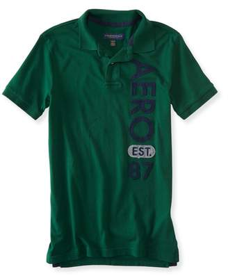 Aeropostale Mens Vert Logo Rugby Polo Shirt S