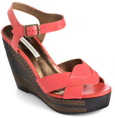 Twelfth St. By Cynthia Vincent Luz Leather Platform Wedge Sandals