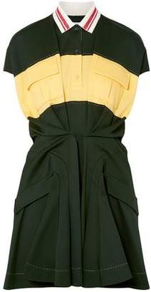 Carven Color-block Cotton-pique Mini Dress