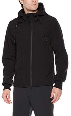 Royal Matrix Men's Hooded Fleece-Lined Softshell Jacket 2 Adjustable Front Zipper (L)