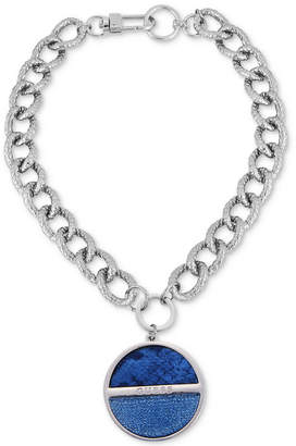 """GUESS Faux Python-Embossed 16"""" Pendant Necklace"""