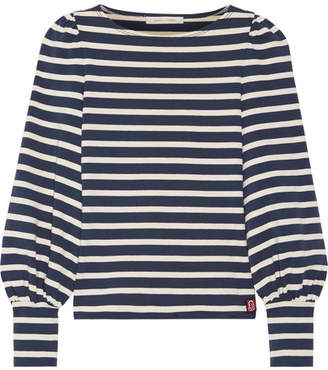 Striped Cotton-jersey Top - Navy