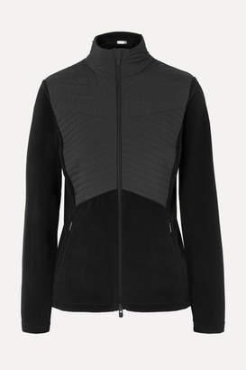 Scylla Kjus Quilted Paneled Fleece Ski Jacket - Black