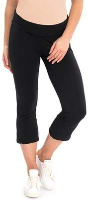 Great Expectations Maternity Solid Yoga Capri Pants