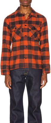 Naked & Famous Denim Work Shirt in Red Slubby Buffalo Check | FWRD