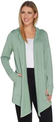 Cuddl Duds Ultra Soft Comfort Drape Front Hooded Cardigan