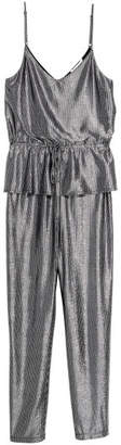H&M Jumpsuit with Flounce - Gray