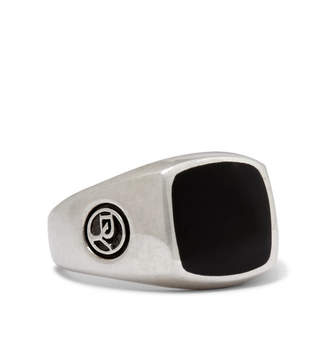 David Yurman Heirloom Sterling Silver Onyx Signet Ring