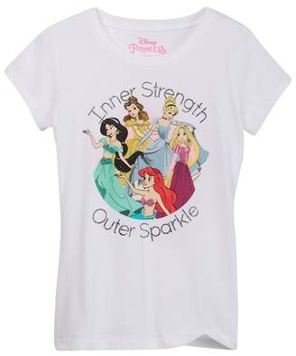 Jerry Leigh Disney Princesses Inner Strength Outer Sparkle Tee (Little Girls & Big Girls)