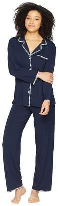 Eberjey Frida - The Whip Stitch Long PJ Set Women's Pajama Sets