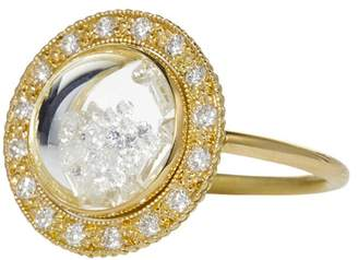 Moritz Glik White Diamond Shaker Dome Ring - Yellow Gold