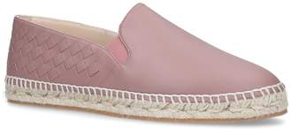 Bottega Veneta Leather Intrecciato Espadrilles