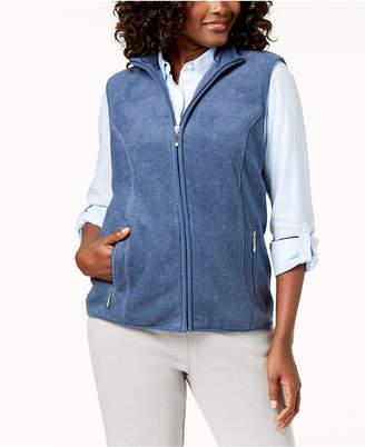 Karen Scott Zeroproof Fleece Stand Collar Vest