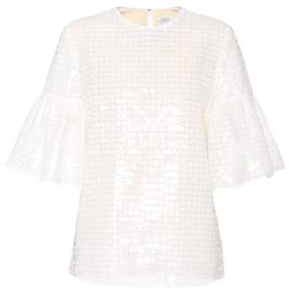 Huishan Zhang White sequin-embellished top