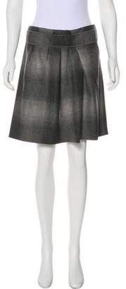 Brunello Cucinelli Virgin Wool Mini Skirt Grey Virgin Wool Mini Skirt
