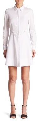 Alexander Wang Alexander Wang Lace-Up Waist Peplum Shirtdress
