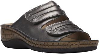 Propet Leather Slide Sandals - June