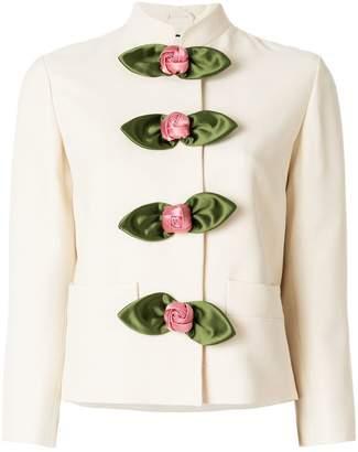 rose embellished jacket