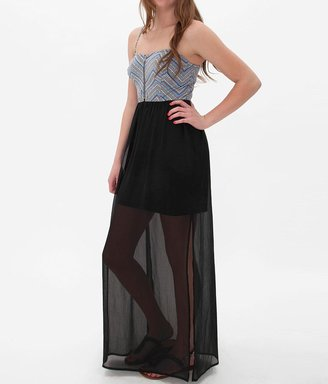 Fire Chiffon Overlay Maxi Dress $39.95 thestylecure.com