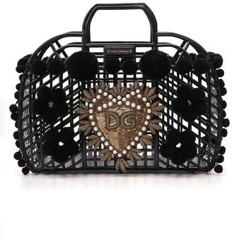 Dolce & Gabbana Kendra Embroidered Tote Bag