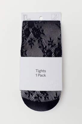 H&M Lace Tights - Black