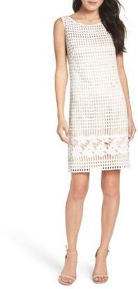 Women's Eliza J Lace Shift Dress $158 thestylecure.com