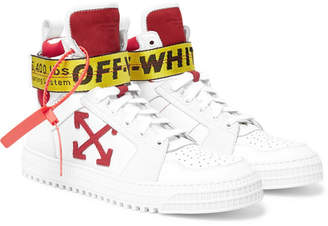 Off-White Off White Industrial Full-grain Leather, Suede And Ripstop High-top Sneakers - White