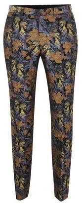Topman Mens Multi Floral Toucan Jaquard Skinny Pants
