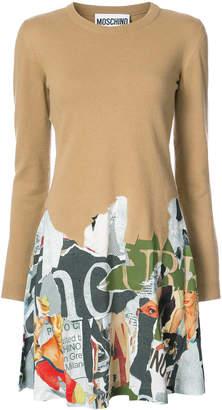 Moschino Magazine print dress