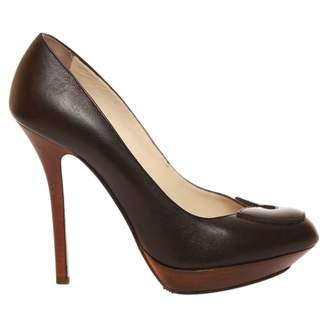 Gianfranco Ferre Black Leather Heels