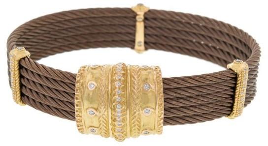CharriolCharriol 18K Petra Gold 5 Row Nautica Cable Diamond Bronze Bracelet