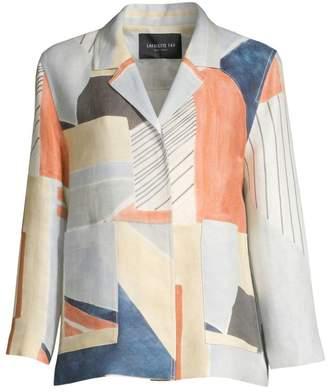 Lafayette 148 New York Layken Geo-Print Linen Jacket
