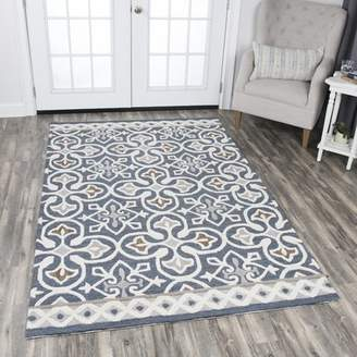 Three Posts Nordmeyer Hand-Tufted Blue/Gray Area Rug