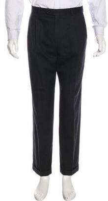 Burberry Flat Front Wool Pants